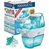 Navage Multi-User Saline Nasal Irrigation System: Navage Nose Cleaner &18 Salt Pods A New Second Nasal Dock (in Teal) and an