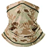 Camo Neck Gaiters Face Scarf - Windproof Neck Covers Cooling Bandana Face Mask