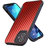 Kitoo Designed for iPhone 12 Case/Designed for iPhone 12 Pro Case, Carbon Fiber Pattern, 10ft. Drop Tested, Wireless Charging