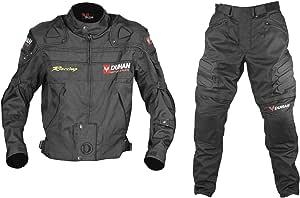 DUHAN(ドゥーハン) バイクジャケット&パンツセット ブラック L オールシーズン 春夏秋冬用 905410