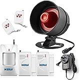 KERUI Home Security System Weather-Proof Siren Window Door Sensors Motion Sensor Alarm with remote control more DIY, Wireless