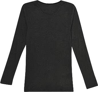 [ウンナナクール] インナー 吸湿発熱両面起毛 無地 長袖シャツ メンズ LS8706
