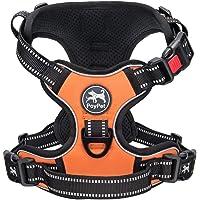 PoyPet 犬ハーネス 首輪 胴輪 小型犬 ソフト 安全 簡単着脱 咳き込み軽減 調節可能 反射材 引っ張り防止 車載…