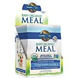 Garden of Life Meal Replacement - Organic Raw Plant Based Protein Powder, Vanilla, Vegan, Gluten-Free, 10 Count Tray
