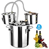 ECO-WORTHY 5 Gallon 18L Alcohol Distiller 304 Stainless steel Home Moonshine Water Distiller Wine Making Kit Home Brewing Kit