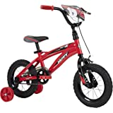 """Huffy Kid Bike, Moto X, Fast Assembly Quick Connect, 14"""" Gloss Red"""