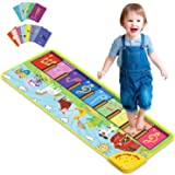 Joyjoz Baby Musical Mats with 25 Music Sounds, Musical Toys Child Floor Piano Keyboard Mat Carpet Animal Blanket Touch Playma