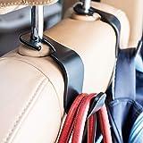 Ofspower 4-Pack Car Vehicle Back Seat Headrest Hook Hanger Storage for Purse Groceries Bag Handbag