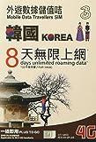 Three 韓国 4G・3Gデータ通信 使い放題 プリペイドSIMカード (8days)