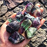 Simurg Raw Fluorite Stone 1lb ''A'' Grade Rainbow Fluorite Crystal - Green Fluorite for Cabbing, Tumbling, Cutting, Lapidary,