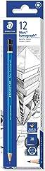 STAEDTLER Mars Lumograph Premium Pencil 100-2B, 12ct Grey