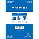日本国内プリペイドSIMカード docomo ドコモ 8日間 データ専用SIM データ量 無制限…