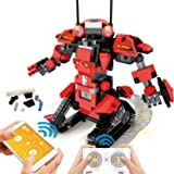 POKONBOY Building Blocks Robot Kits for Kids to Build, STEM Toys Engineering DIY Remote Control Robot Kits STEM Robotics Buil
