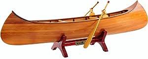 Old Modern Handicrafts B013 Indian Girl Canoe Model Boat
