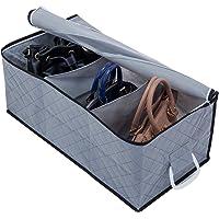 アストロ 収納ケース バッグ用 仕切り付き グレー 不織布 活性炭 消臭 171-47