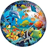 CYBERNOVA 1000 Piece Round Jigsaw Puzzles Ocean World Intellectual Game for Adults and Kids