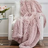 The Connecticut Home Company Luxury Reversible Throw Blankets with Sherpa, Super Soft, Large Plush Wrinkle Resistant Blankets