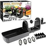 U.S. Kitchen Supply Spiral Master EZ Vegetable Cutter with 5 Versatile Stainless Steel Slicer Blades - Compact, Durable - Mak