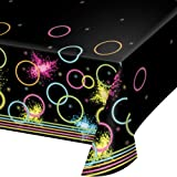 Creative Converting Glow Party Plastic Tablecover, 259 cm Length