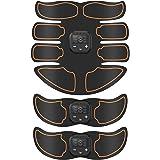 Bicidi 腹筋ベルト EMS USB充電式 筋トレ ダイエット器具 液晶表示 6種類モード 10段階強度 男女兼用