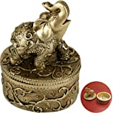 Evelots Jewelry Trinket Box-Elephant-Wedding Ring Holder-Hand Painted-Keepsake