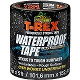 T-Rex Ferociously Strong Waterproof Tape, Black, 285987 4 Inch Wide