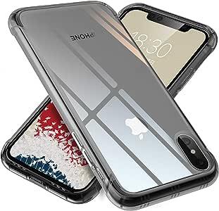 【ONES】 iPhone Xs Max ケース 半透明·黒 米軍MIL規格〔耐衝撃、レンズ保護、滑り止め、軽い、黄ばみなし〕『エアクッション技術、半密閉音室、Qi充電』高級感 カバー Airシリーズ