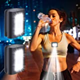 Running Light, 2Pack Reflective Running Gear for Runners, USB Rechargeable LED Light, Clip on Running Lights with Runners and