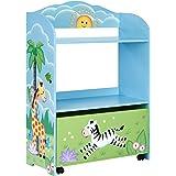 Fantasy Fields - Sunny Safari Toy Organizer with Rolling Storage Box