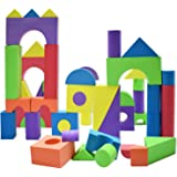 Giant Foam Building Blocks Building Toy for Girls and Boys Ideal Blocks/Construction Toys for Toddlers 50 Pieces Different Sh