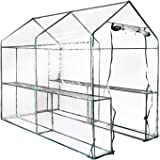 Greenfingers Greenhouse Garden Shed Green House 1.9X1.2M Storage Greenhouses Clear