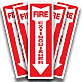 Fire Extinguisher Signs Stickers – 5 Pack 4x12 Inch – Premium Self-Adhesive Vinyl Decal, Laminated for Ultimate UV, Weather,