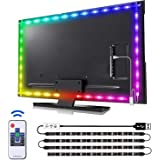 findyouled led Lights for tv 40-60in, 2M tv led Backlight Gaming Lights with Remote, USB led Light Strip for TV, Console, Wal