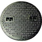 鋳鉄製 マンホール フタ 乗用車荷重(約2t車)マンホール 浄化槽 蓋のみ 穴径450mm (フタ径495mm) MK-1-450