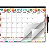 2021-2022 Large Monthly Desk Pad Calendar Planner Academic, Cactus Design with Magnets for Fridge, Desktop January 2021 to Ju