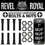 REVEL ROYAL スケートボード スケボー デッキ&トラック用 プラス ビス ハードウエア ブラック