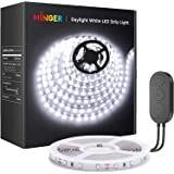 Dimmable LED Strip Lights, MINGER LED Mirror Lights Kit for Vanity Makeup Dressing Table 6000K Bright White Daylight, 300 LED