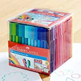Faber Castell 48 Pack Texters Connector Pens Art Drawing Texta Colouring Kids