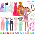 Barwa Lot 15 Items = 5 Sets Fashion Casual Wear Clothes/Outfit with 10 Pair Shoes for 11.5 Inch 28 - 30 cm Doll Xmas Gift