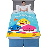 "Franco A38808 Kids Bedding Super Soft Plush Throw, 46"" x 60"", Baby Shark"