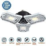 LED Garage Lights, 60W 6000LM E27 LED Garage Light Bulbs for Full Area, Deformable Garage Lighting Fixtures Ceiling Led for G