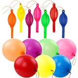 RUBFAC 36 Punch Balloons, Neon Punching Balloons with Rubber Band Handles, 18 Inch, Punch Balls, Suitable for Gifts, Children