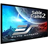 Elite Screens Sable Frame 2, 110-inch 16:9, Active 3D 4K Ultra HD Ready Fixed Frame Home Theater Projection Projector Screen,