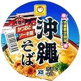 東洋水産 マルちゃん 沖縄そば 豆カップ かつおとソーキ味 1ケース (39g×12個入) 沖縄限定