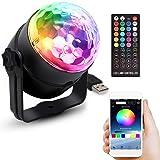 ミラーボール RGB LED ディスコボール ステージライト アプリ制御 リモコン付き タイマー機能 音声起動 USB式 バー/パーティー/KTV 音楽モード
