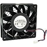 HIGHFINE 12cm 120mm 200CFM 4000RPM CPU Cooling Fan FFC1212DE 12V DC 3-Pin 3-Wire PC Computer High CFM Cooling Case Fan with M