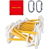 Emergency Fire Escape Ladder Flame Resistant Safety Rope Ladder with Hooks Fast to Deploy & Easy to Use Compact & Easy to Sto