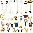 Enamel Lapel Pin Set 25 PCS Cartoon Cute Backpack Jackets Pin DIY Crafts Hard Badges Lapel Brooch for Kid's Women