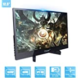 Portable Monitor 12.5-inch IPS Full HD 1920x1080P 5mm Ultra-Thin Display for PC Laptop Gaming PS4 XBox DVD Player Dual HDMI w