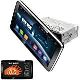 Amaseaudio Car Stereo, Rotated 10.1'' Capacitive Touchscreen, DSP+, Universal Single Din Deckless, Support Android Auto Apple